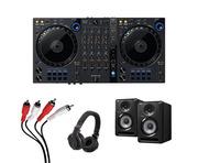 Pioneer DDJ-FLX6 + S-DJ50X-K with Headphones + Cable