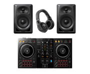 Pioneer DDJ-400 with DM-40 Monitors & HDJ-X5 Headphones