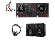 Numark Mixtrack Pro FX + M-Audio BX3 (Pair) with Headphones + Cable