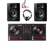 Numark Mixtrack Platinum FX + M-Audio BX4 (Pair) with Headphones + Cable