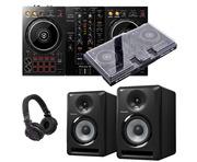 Pioneer Dj DDJ-400 + S-DJ50X with Decksaver, Headphones + Cable