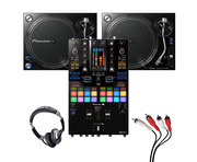 Pioneer PLX-1000 (Pair) + DJM-S11 with Headphones + Cable