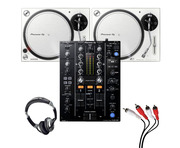 Pioneer PLX-500 (Pair)+ DJM-450 with Headphones + Cable