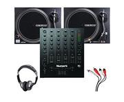 Reloop RP-4000 MK2 Turntables & Numark M6 USB Black Mixer Package
