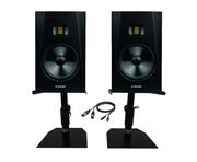 "Adam Audio T8V 8"" Studio Monitors with Desktop Stands & Cables"
