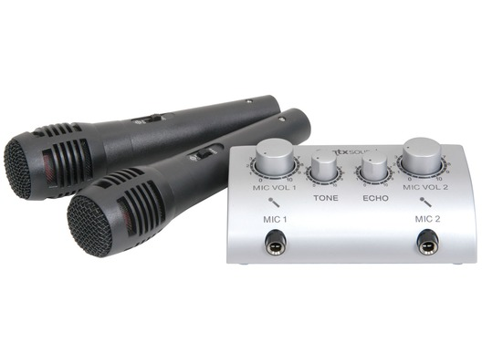 QTX Sound Karaoke Microphone Mixer
