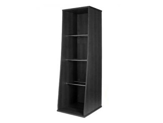 Sefour Vinyl Storage Tower Jet Black
