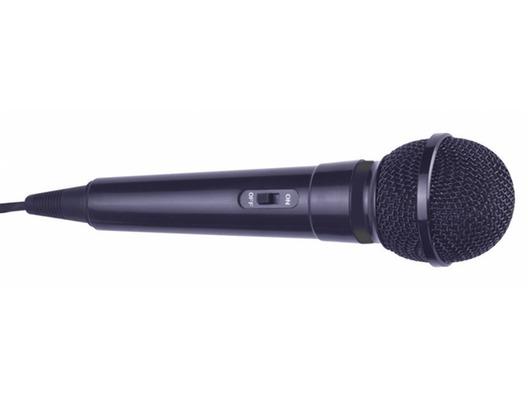 Mr Entertainer Plastic Karaoke Microphone Black