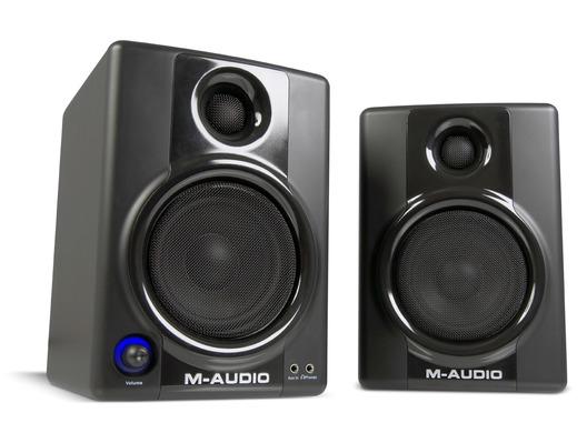 Pair M-Audio AV40 Active Monitor Speakers