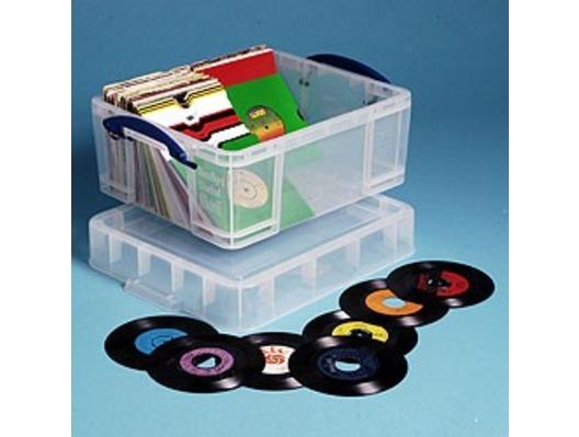 "18 litre XL Really Useful Box Clear 200 7"" Vinyl Storage"
