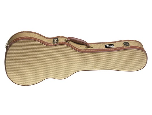 Stagg Gold Tweed Deluxe Case for Tenor Ukulele