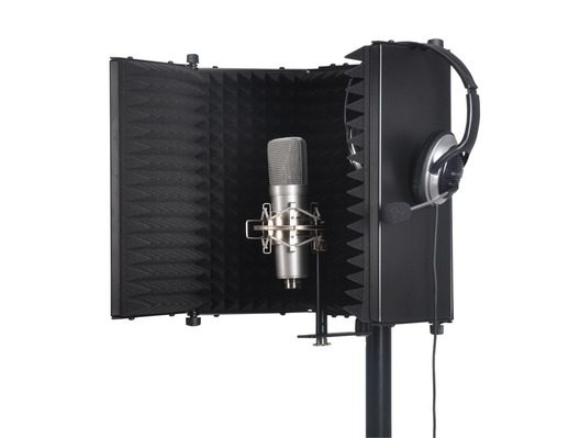 SoundLab Studio Microphone Reflexion Screen Black