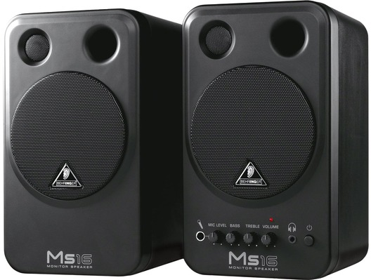 Behringer MS16 Active Studio Monitor Speakers (Pair)