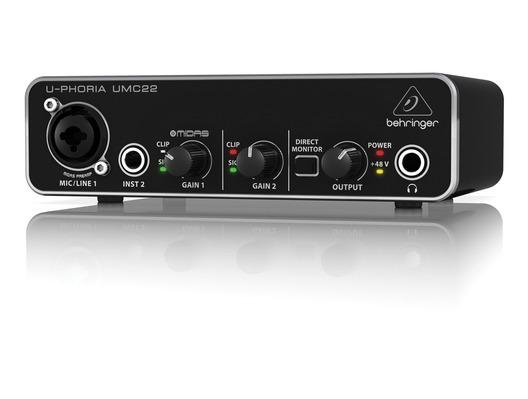 Behringer UMC22 U-PHORIA USB Audio Interface