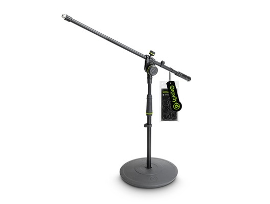 Gravity GMS2221B Short Microphone Stand with 2-Point Adjustment Boom