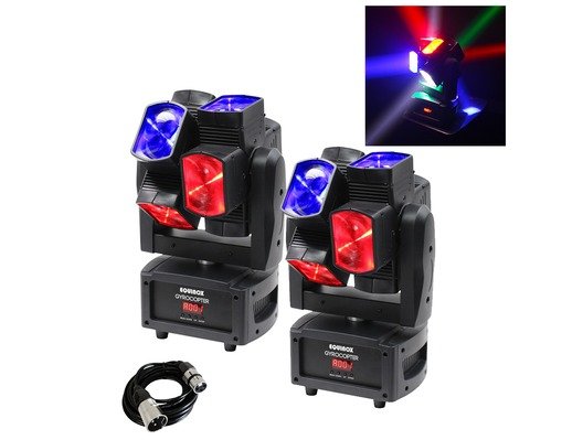 Equinox Gyrocopter Moving Head (Pair) & Cable