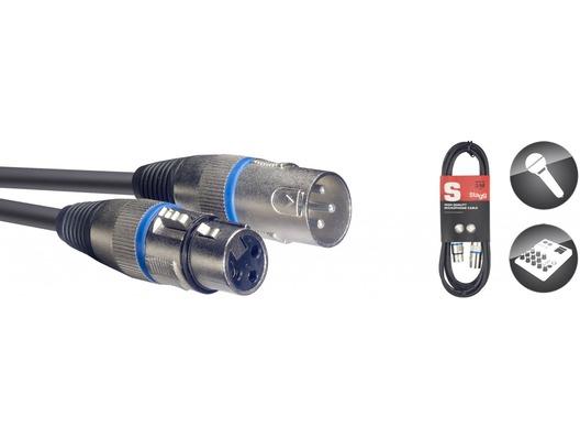 STAGG Male XLR To Female XLR Microphone Lead 3m