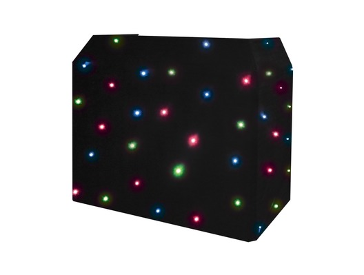 Equinox DJ Booth Quad LED Starcloth System Black Cloth