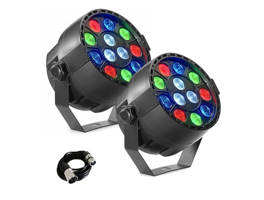2x Stagg ECOPAR XS LED Spotlights