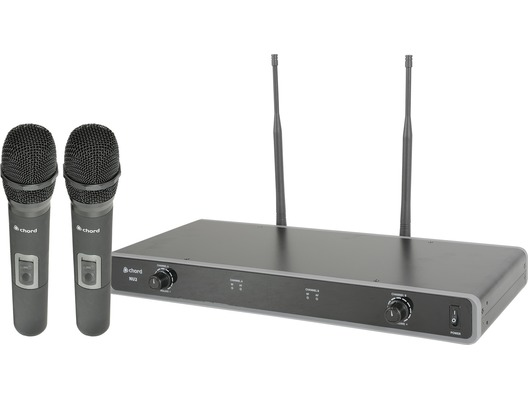 Chord NU2-H Dual UHF Wireless Handheld Microphone System