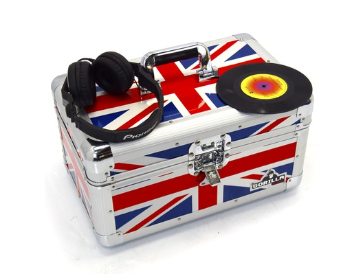 "Gorilla 200pcs 7"" Singles Vinyl Flight Storage Case (Union Jack)"