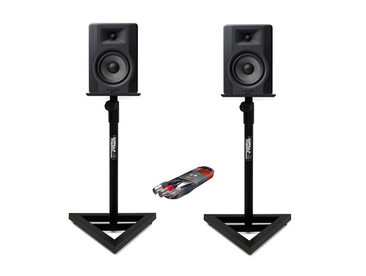 2x M-Audio BX5 D3 with Stands & Cable