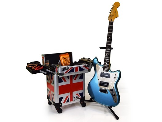Gorilla Musician Tech Trolley Gig Case inc Handle/Wheels (Union Jack)