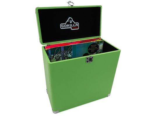 "Gorilla LP-45 12"" Vinyl Record Retro Storage Box (Surf Green)"