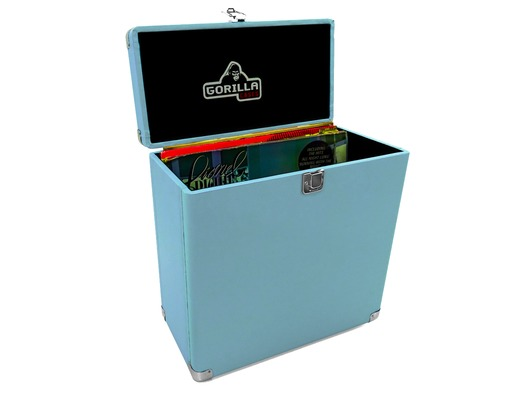 "Gorilla LP-45 12"" Vinyl Record Storage Case Retro (Sonic Blue)"