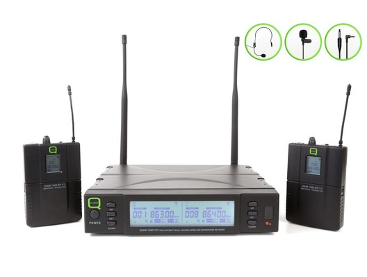 Q-Audio QWM 1960 V2 BP Wireless Microphone System