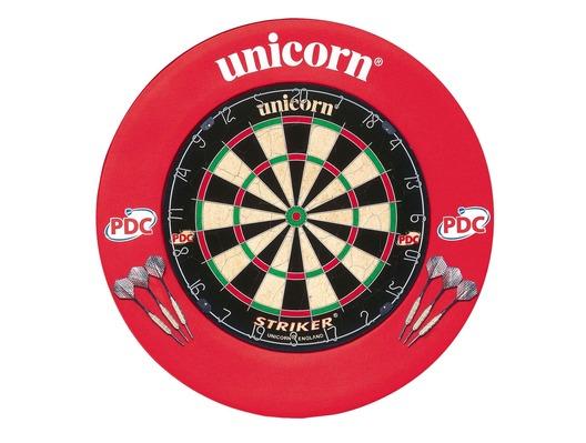 Unicorn Striker Board & Surround with 2 Sets of Darts