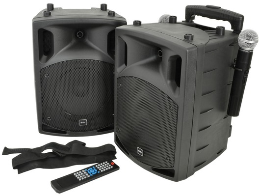 QTX PAV8 Portable PA Set with UHF Mics, Bluetooth & DVD