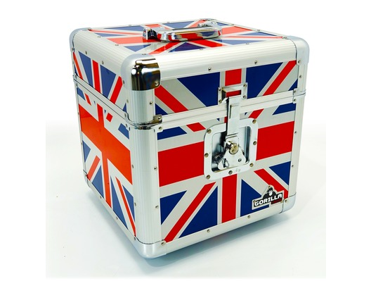 "Gorilla LP100 Vinyl 12"" LP Record Box Union Jack Design"