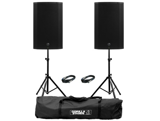 Mackie Thump 15A V4 (Pair) with Stands & Cables