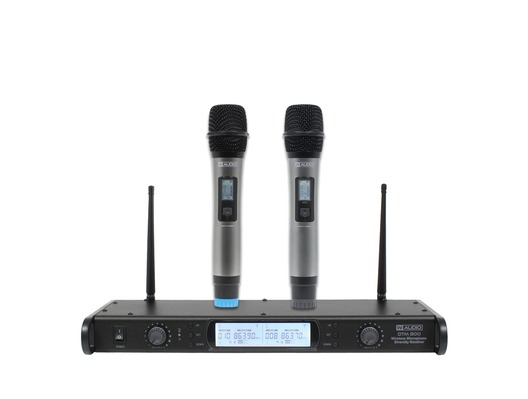 W Audio DTM 800H Twin Handheld Diversity Microphone System