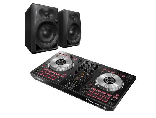 Pioneer DJ DDJ-SB3 & Pioneer DJ DM-40 Package