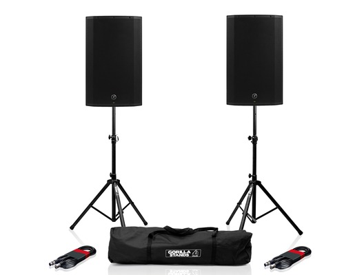 Mackie Thump 15BST (Pair) with Stands & Cables