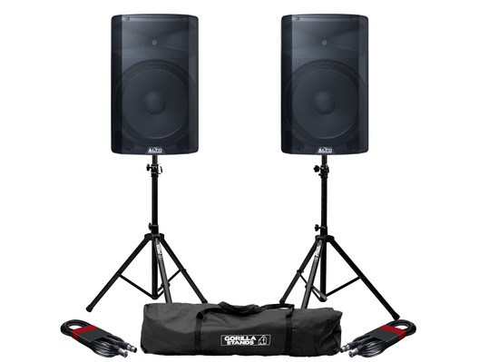 Alto TX215 (Pair) with Stands & Cables
