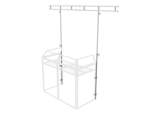 Equinox DJ Booth Overhead Kit MKII White