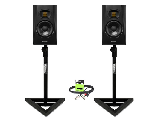 Adam Audio T5V with GSM-100 Stands & Cable