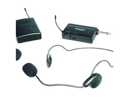 Prosound A75UR UHF Single Headset & Tie Clip Wireless Mic