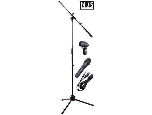NJS Professional Complete Microphone & Stand Kit