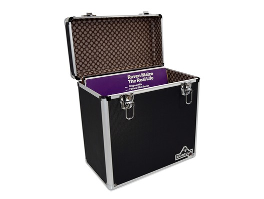 "Gorilla LP50 12"" Vinyl Storage Case Box (Black)"