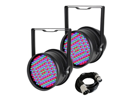 2x Equinox LED Par 64 with DMX Cable