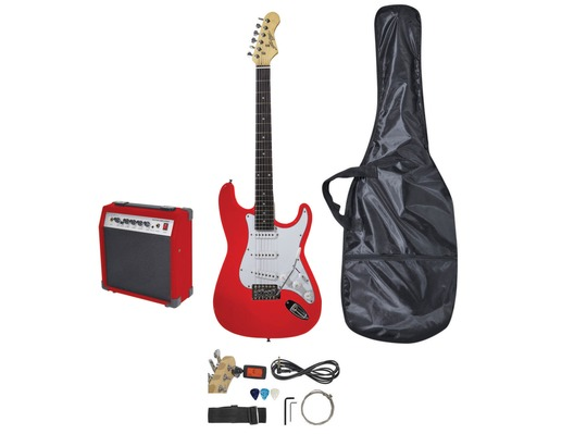 Johnny Brook Standard Guitar Kit with 20W Combo Amplifier RED