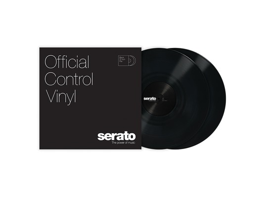 "Serato Standard Colours 12"" Control Vinyl (Pair) - Black"