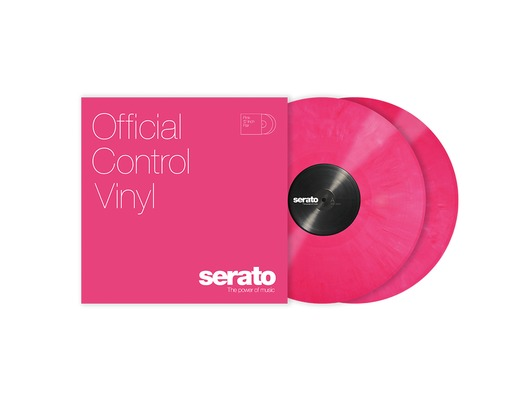 Serato 12 inch Control Vinyl Standard Colours (Pair) - Pink