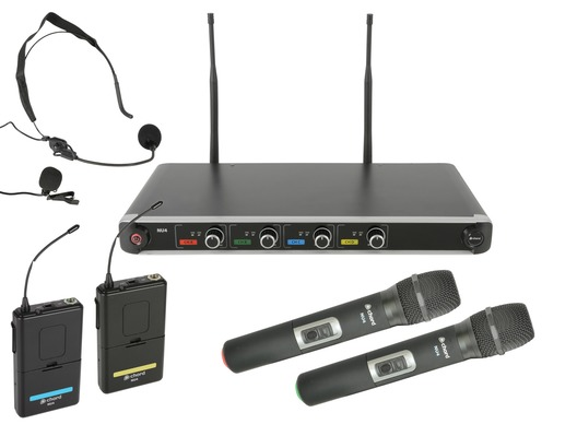 Chord NU4-C Quad UHF Wireless Microphone System