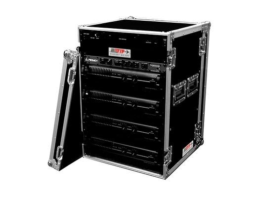 "TIP Total Impact 16U 19"" Amplifier Deluxe Rack Inc Caster Board"