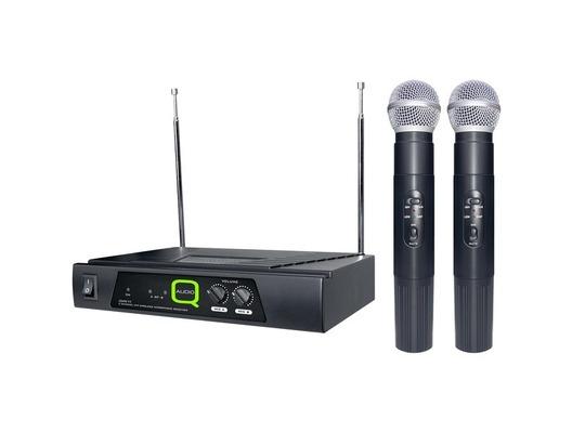 Q-Audio QWM 11 Dual Channel VHF Twin Microphone System